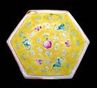 Chinese Nyonya Ware Hexagonal Plate  - 19th C.