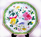 Chinese Nyonya Ware Plate with Good Luck Symbols - 19th Century