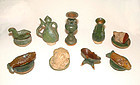 Chinese Assorted Ming Nine Miniature Tomb Items