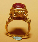 Rare Ancient Pyu Gold Ruby Ring