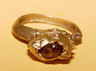 Ancient Pyu Ruby Gold Ring - 100 to 500 AD