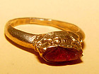 Rare Ancient Pyu Ruby Gold  Ring