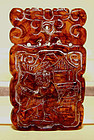 Chinese Amber Pendant of Year of the Monkey