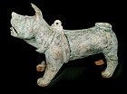 Chinese Green Glazed Han Dog - 206BC - 220AD