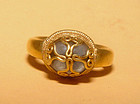 Large Cabochon Quartz Crystal Gold Ring - 14th Century