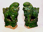 Chinese Ming Foo Lions Joss Stick Holders 1368 - 1644 AD
