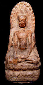 Terracotta Votive Amulet of Buddha