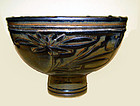 Rare Large Chinese Jin Stem Bowl - Jin Dynasty 1115 - 1234 AD
