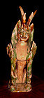 Large Chinese Tang Sansai Glazed Tomb Guardian -618 - 907 AD