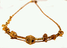 Rare Pyu Micro Solid Gold Necklace 100 -500 AD