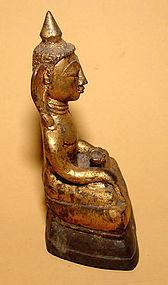 Rare Burmese Gilded Bronze Buddha - 18th Century