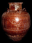 Rare Large Chinese Ming Jar with Four Scenes 15th Century