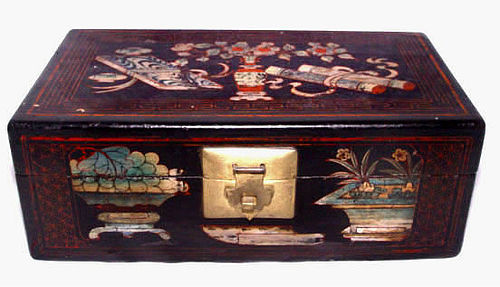 Chinese Painted Scholar's Box - Mid 19th Century