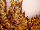 Two Rare Old Large Burmese Gilded Dragon Nagas - 19th Century