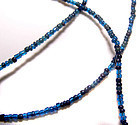 Ancient Micro Blue Glass Bead Necklace - 100 BC