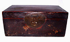 Chinese Leather Overlay Table Top Chest - 19th Century
