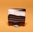 Ancient Natural Banded Agate Bead Pendant -100BC #16