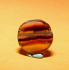 Ancient Natural Banded Agate Bead Pendant -100BC #15