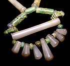 Quartz Jade Necklace -Tairona Culture Pre Columbian