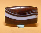 Ancient Natural Banded Agate Bead Pendant -100BC #14