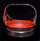 Burmese Black Lacquered Basket