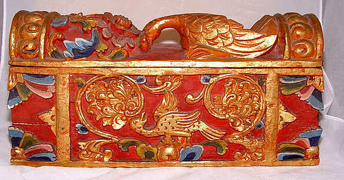 Malaysian Large Carved Tribal Wedding Box