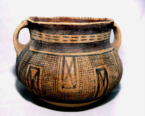 Neolithic Painted Chinese Pottery Jar - 3500 -2200BC