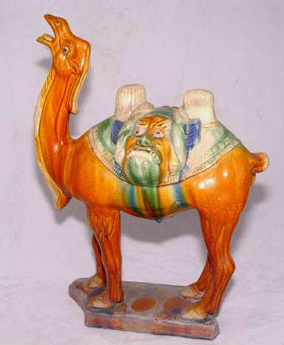 Chinese Tang  Sansai Glazed Camel