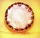 Chinese Tang Sansai Glazed Plate - 618 - 907AD