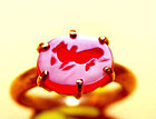 Rare Pyu Red Agate Sacred Bull Seal Gold Ring - 100 - 500 AD