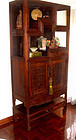 Rare Chinese Blackwood Hungmu Cabinet with Original Stand -Early 1900.
