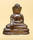 A Silver Burmese Buddha - 15th Century