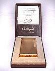 ST Dupont de Paris Gold Plate Cigarette Lighter -1974