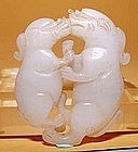 Chinese Jade of Two Animals - Qing Dynasty