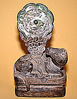 Rare Song Xiniu Stone Mirror Holder - 960AD - 1126AD