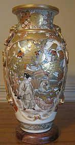 Large and Beautifully Decorated Early Satsuma Vase