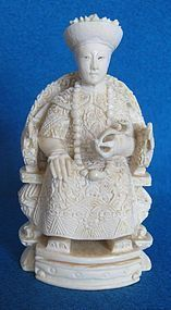 Expertly Detailed Ivory Figure of a Chinese Empress