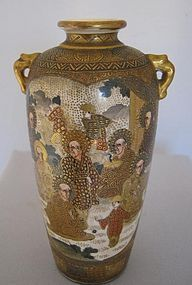 Expertly Detailed Satsuma Vase Signed Hododa
