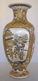 Exceptional Museum Quality Satsuma Vase Signed Hattori