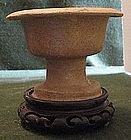 Early Han Dynasty Proto-porcelain Bowl Stand (Gui)