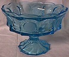 Fostoria Coin Blue Footed Bowl