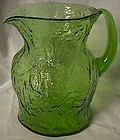 Morgantown Crinkle Green Ockner Pitcher