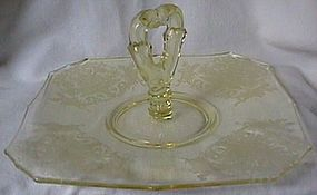 Gothic Garden Yellow Center Handled Server