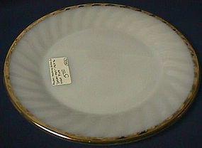 Fire King Golden Swirl Dinner Plate