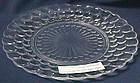 Fire King Bubble Crystal Dinner Plate