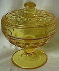 Tiffin Antique Thumbprint Golden Banana Candy Box