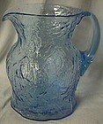 Morgantown Crinkle Ockner Pitcher Peacock Blue