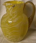Yellow Pitcher with Amber Handle