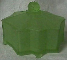 Lotus Green Frosted Powder Jar
