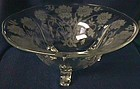 Tiffin Glass Company Coronet Footed Crystal Bowl